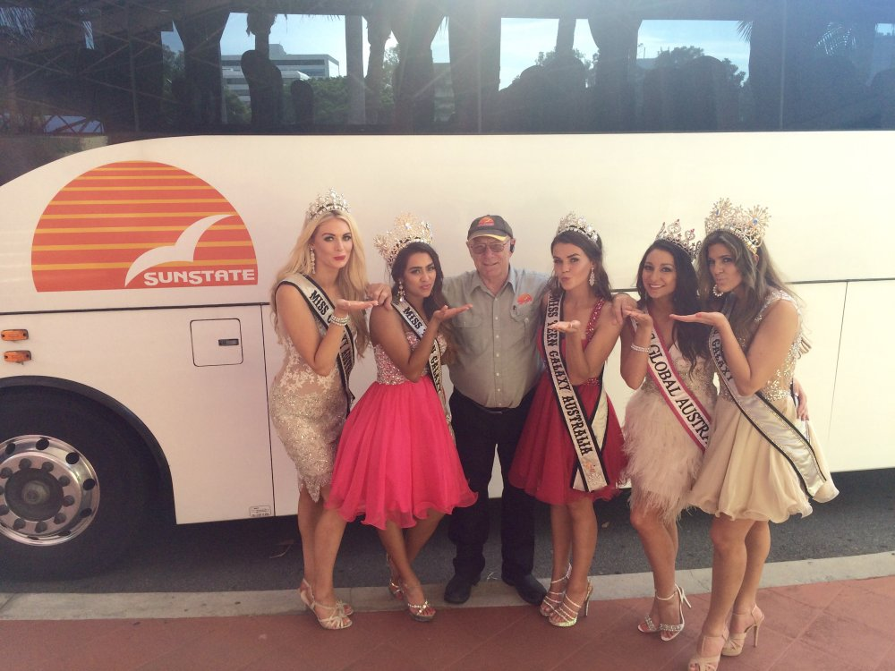 Sunstate Coaches supply transfer for Australia Galaxy Pageants